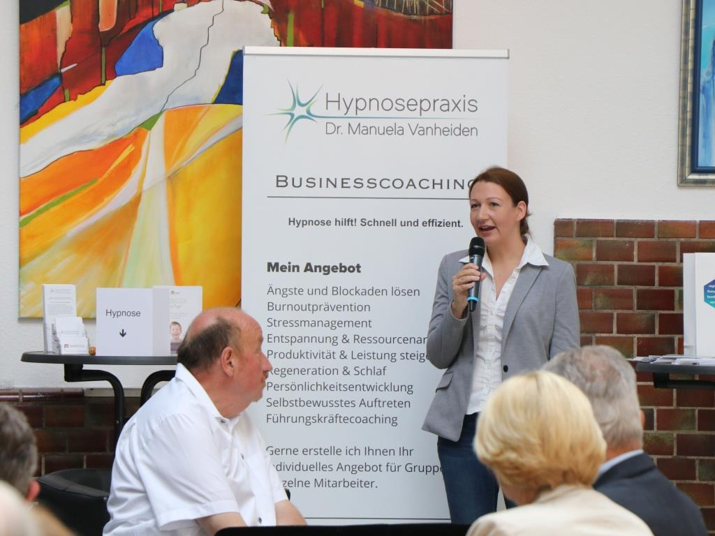 Triple Z Hauptversammlung 2019 Hypnosepraxis Vanheiden am Infostand