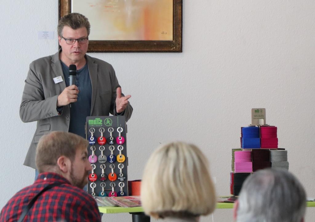 Triple Z Hauptversammlung 2019 Metz Textil am Infostand
