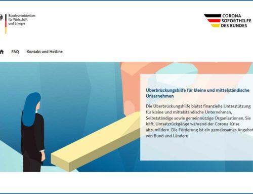 Überbrückungshilfen von Bund und Land: Informationen zur Antragsstellung