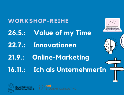 Gern anmelden: Kostenfreie Workshops der studentischen Unternehmensberatung act e.V.